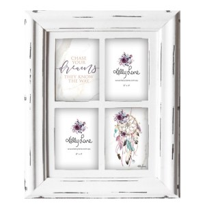 French Country Photo Frame Wooden BOHO FEATHERS Frame 33x43cm New
