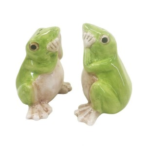 French Country Collectable Novelty Kitchen Dining FROGS Salt and Pepper Set New