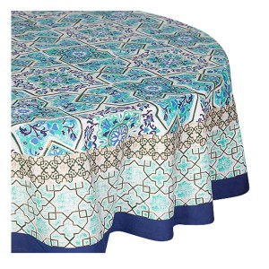 French Country Kitchen Table Cloth ANKARA Tablecloth ROUND Cotton 180cm New