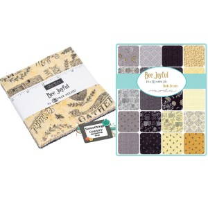 Quilting Charm Pack Patchwork MODA BEE JOYFUL 5 Inch Fabrics Material New