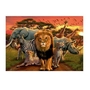 5D Diamond Painting Full Image Square Drills AFRICAN ANIMALS 30x40cm New