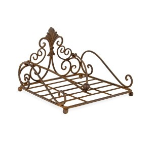 French Country Vintage Kitchen HERALD BROWN BBQ Napkin Serviette Holder New