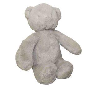 Cuddly Plush Teddy Bear Pale Grey Fur Childrens Toy 30cm Sitting New