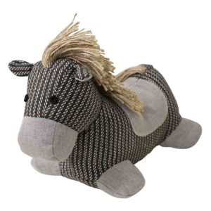 French Country Vintage Look Sitting Weighted BANJO HORSE New Door Stopper