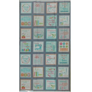 Patchwork Quilting Sewing Fabric MY HAPPY PLACE Panel 60x110cm New