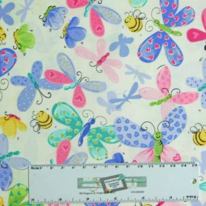 Patchwork Quilting Sewing Fabric SUSYBEE BUTTERFLY 50x55cm FQ New