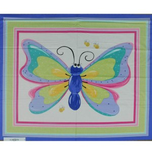 Patchwork Quilting Sewing Fabric SUSYBEE BUTTERFLY Panel 90x110cm New