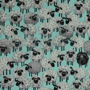 Patchwork Quilting Sewing Fabric SUSYBEE EWE'S SHEEP 50x55cm FQ New