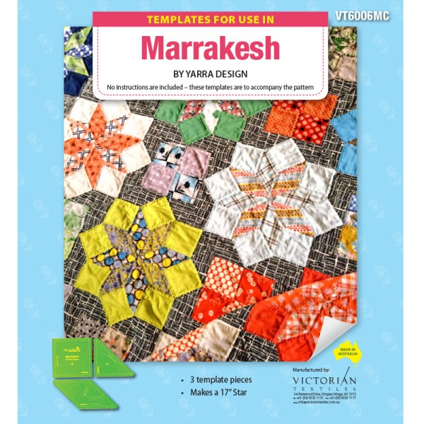 Quilting Patchwork Sewing Template MARRAKESH 3 Pieces Matilda's Own New