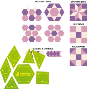 Quilting Patchwork Sewing Template 1inch Set 7 Pieces Matilda's Own New