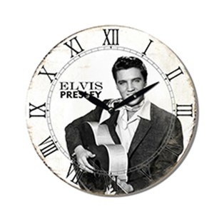 Clock French Country Vintage Wall Hanging ELVIS PRESLEY Clocks Time 29cm New
