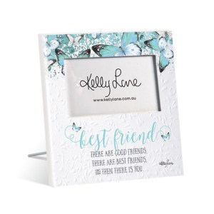French Country Vintage Inspired Standing Photo Frame Butterfly Best Friend New
