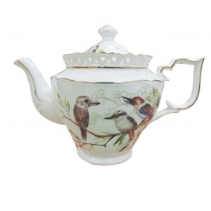 French Country Lovely Kitchen Teapot KOOKABURRA China Tea Pot with Giftbox New
