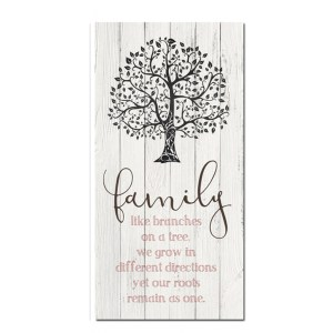 French Country Stretched Canvas Print FAMILY LIKE BRANCHES TREE Sign 80x40cm New