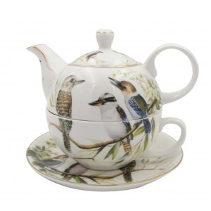French Country Lovely Teapot Australian KOOKABURRA TEA FOR ONE with Gift box New