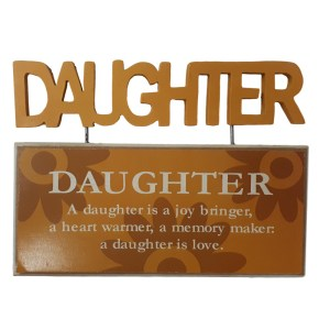 French Country Vintage Inspired Tabletop Sign DAUGHTER JOY BRINGER New
