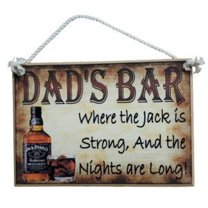 Country Printed Quality Wooden Sign THE JACK IS STRONG Plaque Bar New