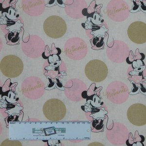 Quilting Patchwork Sewing Fabric MINNIE MOUSE 50x55cm FQ Material New