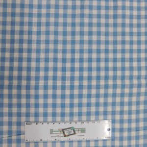 Quilting Patchwork Sewing Fabric LIGHT BLUE GINGHAM CHECK 50x55cm FQ New
