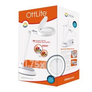 Ottlite LED Space Saving Magnifier Desk Lamp for Crafting New