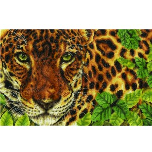 Country Threads Cross Stitch OUT OF SIGHT LEOPARD Kit New X Stitch BK1667