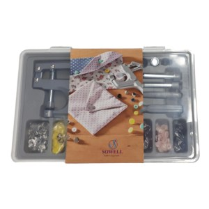 Sewing Quilting Sowell Plastic Fastener Kit with Tool and Snaps incl Metal New