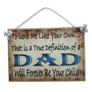 Country Printed Quality Wooden Sign DEFINITION OF DAD Father Plaque New
