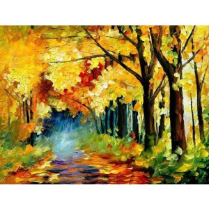 5D Diamond Painting Full Image Square Drills PAINTED TREES 30x40cm New