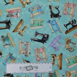 Quilting Patchwork Sewing Fabric TAILOR MADE MACHINES 50x55cm FQ New