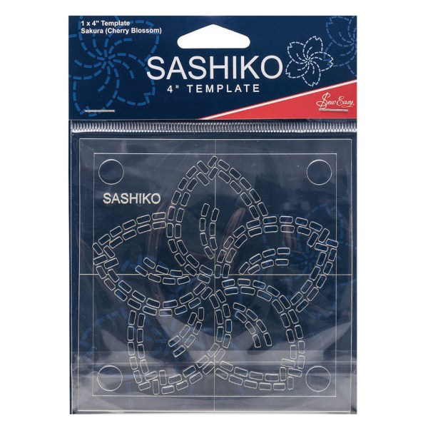 """Quilting Patchwork Sewing SASHIKO CHERRY BLOSSOM Template 4"""" New"""