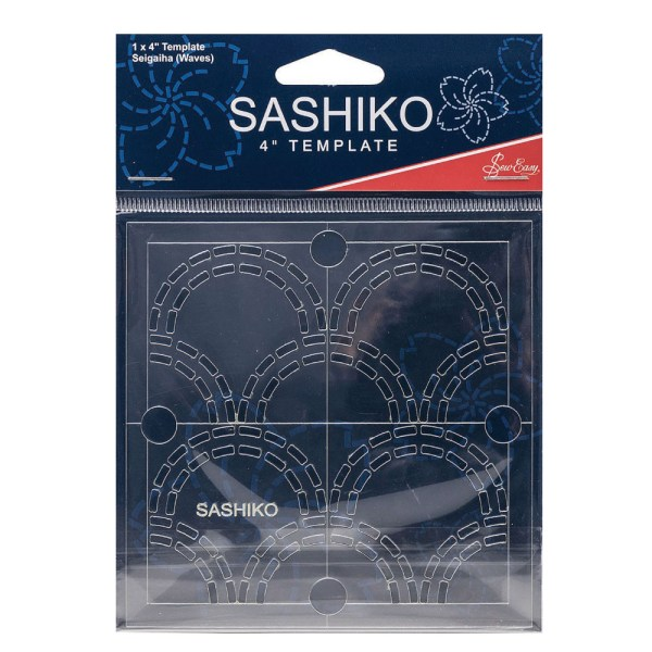 """Quilting Patchwork Sewing SASHIKO WAVES Template 4"""" New"""