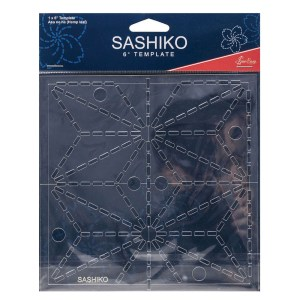 "Quilting Patchwork Sewing SASHIKO HEMP LEAF Template 4"" New"