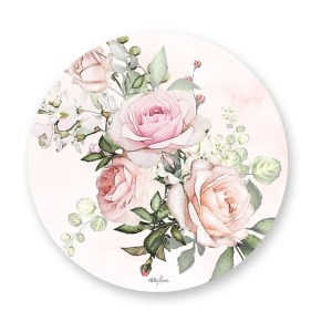 Kitchen Cork Backed Placemats AND Coasters ROUND ENGLISH ROSE Set 6 New