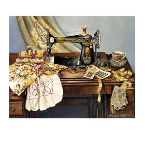 5D Diamond Painting Full Image Square Drills SINGER SEWING 40x50cm New