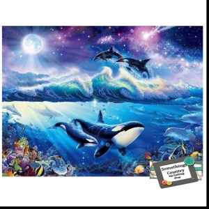 5D Diamond Painting Full Image Square Drills WHALES 40x50cm New