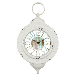 French Country Chic Metal Wall Clock 30x15cm BOHO DREAMS New