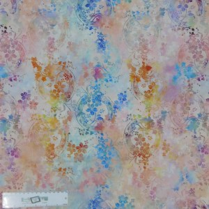 Quilting Patchwork Sewing Fabric GARDEN OF DREAMS FLORAL WREATH PINK 50x55cm FQ New