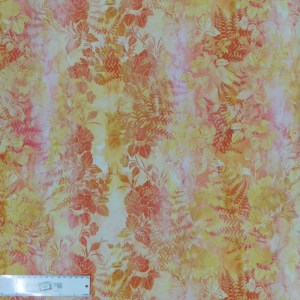 Quilting Patchwork Sewing Fabric GARDEN OF DREAMS CITRUS 50x55cm FQ New Jason Yenter