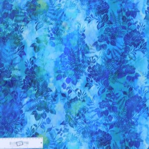 Quilting Patchwork Sewing Fabric GARDEN OF DREAMS BLUE 50x55cm FQ New Jason Yenter