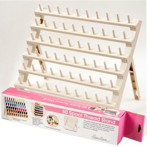Quilting Patchwork Sewing 60 SPOOL RACK PLASTIC with Pegs to Hold Thread Spools New