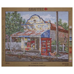 Grafitec Printed Tapestry Needlepoint A QUICK CHAT by Gordon Hanley New
