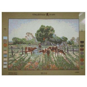 Grafitec Printed Tapestry Needlepoint SPRING FROST by Elioth Gruner New