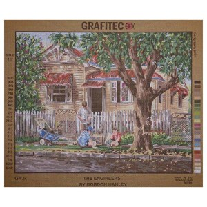 Grafitec Printed Tapestry Needlepoint THE ENGINEERS by Gordon Hanley New