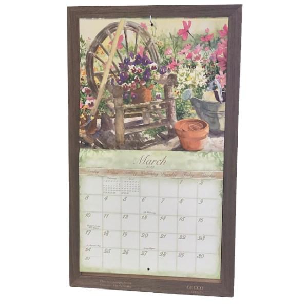 2020 Lang Legacy Calendar Frame Wooden IRONBARK HOOK Display Calender New