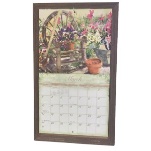 2020 Lang Legacy Calendar Frame Wooden IRONBARK HOOK Display Calender New