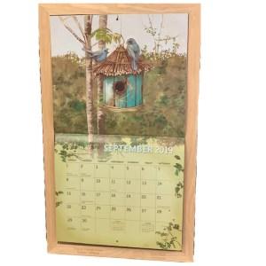 2020 Lang Legacy Calendar Frame Wooden STRAW HOOK Display Calender New