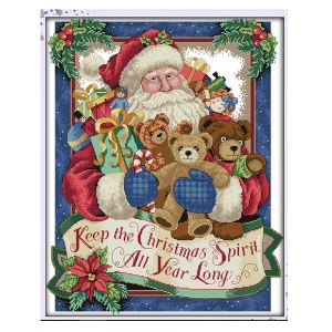 Cross Stitch Kit CHRISTMAS SPIRIT X Stitch Joy Sunday Designs Incl Threads New