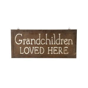 Country Metal Enamel Sign Wall Art GRANDCHILDREN LOVED HERE Plaque New