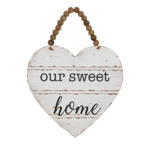 Country Painted Wooden Hanging Farmhouse Sign OUR SWEET HOME Plaque New
