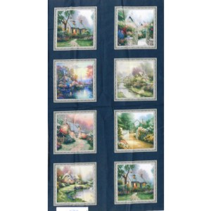 Patchwork Quilting Sewing Fabric THOMAS KINKADE IMAGES Panel 60x110cm New